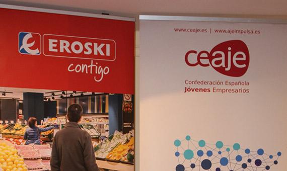 Cartel CEAJE confederación Española de Jóvenes Empresarios