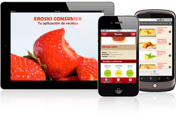 App Móvil Eroski Consumer Recetas