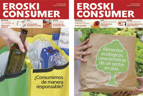 Portadas Revista Eroski Consumer