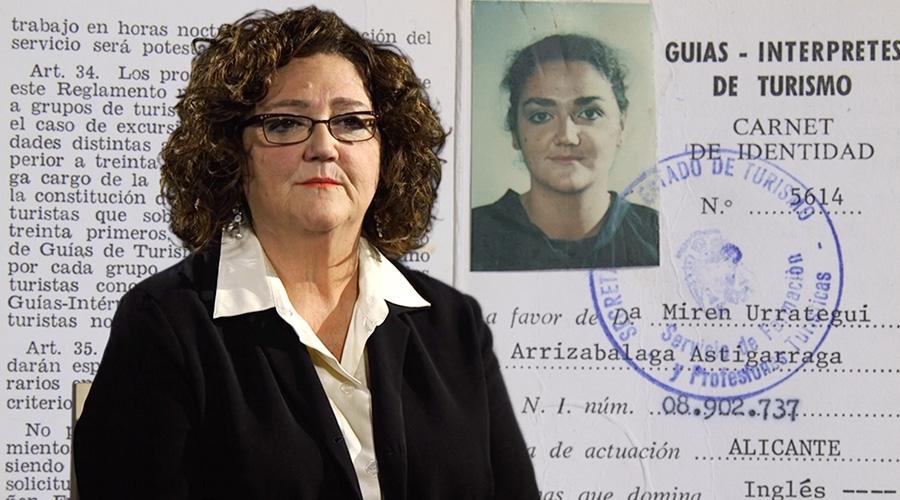 Captura de vídeo de Miren Arrizabalaga hablando